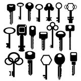 Silhouettes of keys Royalty Free Stock Image