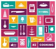 Cooking icons in flat style. Vector illustration royalty free illustration