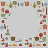 Silhouettes of Kitchenware  ,  for background Royalty Free Stock Photos