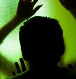 silhouettes kusligt Royaltyfria Bilder