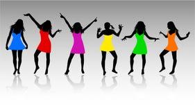 silhouettes kvinnor Royaltyfri Bild