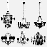 Silhouettes of lamps icon great for any use. Vector EPS10. Royalty Free Stock Image