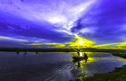 Silhouettes Landscape Stock Photo