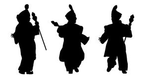 Silhouettes of little prince from orient Stock Photos