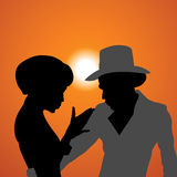 Silhouettes. Love Stock Images