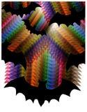 Silhouettes lumineuses de battes de polygones Images stock