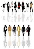 Silhouettes of man and woman Royalty Free Stock Photography