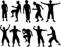 Silhouettes men. Silhouettes, work with vectors, jpg + eps 8 Royalty Free Stock Photos