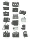 Silhouettes of men's handbags Stock Image