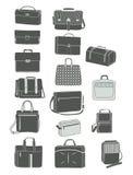 Silhouettes of men's handbags royalty free illustration