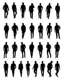 Silhouettes of men . Vector illustration. Silhouettes of men . Silhouettes of happy young attractive people. Vector illustration Stock Photography