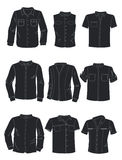 Silhouettes of mens shirts Stock Photo
