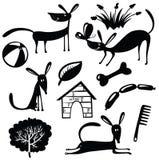 Silhouettes mignonnes de chiens illustration de vecteur
