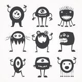 Silhouettes of monsters Stock Photos