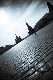 Silhouettes of the Moscow Kremlin Royalty Free Stock Photos