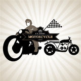 Silhouettes of Motorcycle 0041 Royalty Free Stock Photos