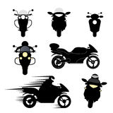 Silhouettes of motorcycles Stock Image