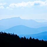 Silhouettes of the mountains Stock Images