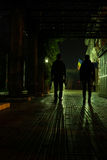 Silhouettes in the night Stock Photo