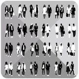 Silhouettes noires des couples, femme, homme Photos libres de droits