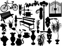 Silhouettes of objects Stock Image