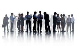 Free Silhouettes Of Corporate Business People Working Stock Images - 44047954