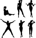 Silhouettes Of Girl Stock Images