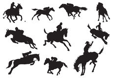 Free Silhouettes Of Knights And Hor Royalty Free Stock Photo - 3431235