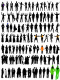 Silhouettes Of People Stock Photo