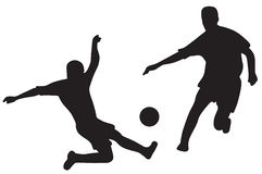Free Silhouettes Of Soccer Players Stock Photography - 3134402