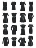 Silhouettes of office dresses Stock Image