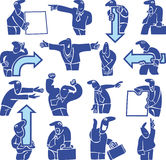 Silhouettes of office workers. pointers Stock Photo