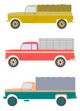 Retro truck set. Stock Images
