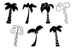 Silhouettes of palm trees Royalty Free Stock Image
