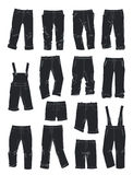 Silhouettes of pants for boys Stock Photo