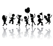 silhouettes party children Stock Photography
