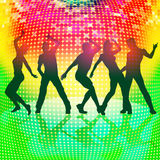Silhouettes of party people  Royalty Free Stock Photo