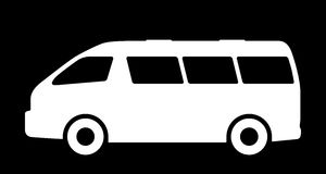 Silhouettes of passenger cars. Royalty Free Stock Image
