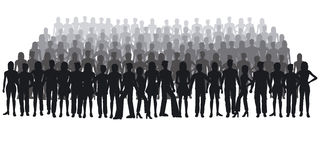 Silhouettes of people. Large crowd - additional ai and eps format available on request Royalty Free Stock Photography