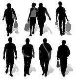 The silhouettes of a people Royalty Free Stock Photo