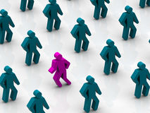 Silhouettes of people stock illustration