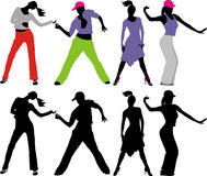 Silhouettes people Royalty Free Stock Images