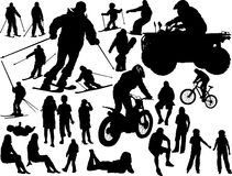 Silhouettes of the people Royalty Free Stock Images