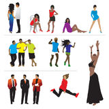 Silhouettes of people, color Stock Photography