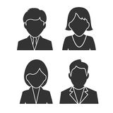 Silhouettes of people icons Stock Image