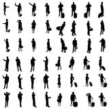 48 Silhouettes of people Royalty Free Stock Image