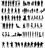 Silhouettes People Vector. Militar Business Social to designers Royalty Free Stock Image