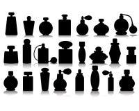 Silhouettes of perfume Stock Photos