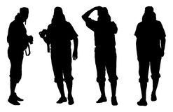 Silhouettes of photographer Stock Photo