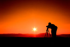 Silhouettes photographers Royalty Free Stock Photography